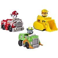 Paw Patrol 6024058 - Confezione da 3 Rescue Racers, veicolo con cucciolo - Marshall, Rocky e Rubble