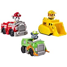 Patrulla Canina - Pack de 3 Vehículos al rescate Marshall + Rubble + Rocky