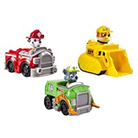 Rescue Racers 3pk Vehicle Set: Marshal, Rubble, Rocky