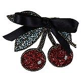 EMDOMO Perlen-Badges Kirsch-Band zum Aufnähen von Broschen, Schuhe, dekoriertes Nähzubehör, 2 Stück
