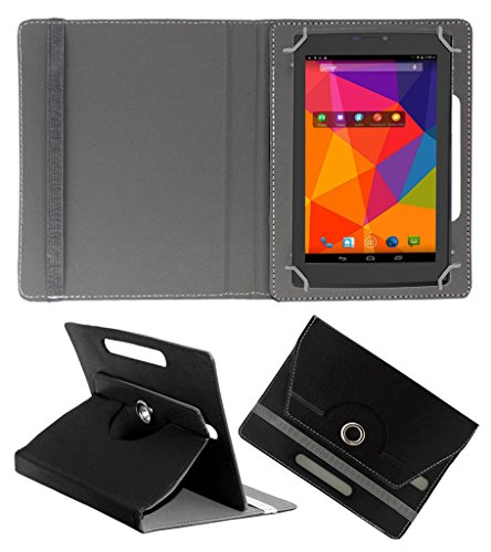 ACM ROTATING 360° LEATHER FLIP CASE FOR MICROMAX CANVAS TAB P480 TABLET STAND COVER HOLDER BLACK  available at amazon for Rs.149