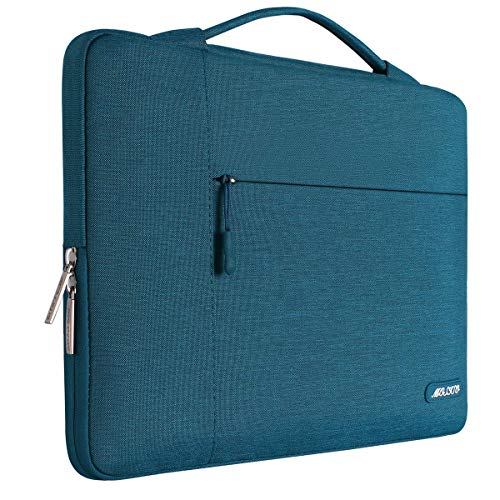 MOSISO Tasche Sleeve Hülle Kompatibel mit 15-15,6 Zoll MacBook Pro, Notebook Computer, Polyester Multifunktion Tragen Laptoptasche Aktentasche Handtasche, Deep Teal