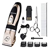 510K4NOQReL. SL160  BEST BUY #1Everesta Low Noise Rechargeable Cordless Pet Dogs and Cats Electric Clippers Grooming Trimming Kit Set (Gold+Black) price Reviews uk