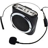 UltraDisk DVA 10W Portable Voice Amplifier Headworn Microphone Black mini PA Teachers Tour Guides Sports Events Performance Voice Amp