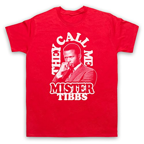 Inspiriert durch In The Heat Of The Night They Call Me Mr Tibbs Unofficial Herren T-Shirt Rot