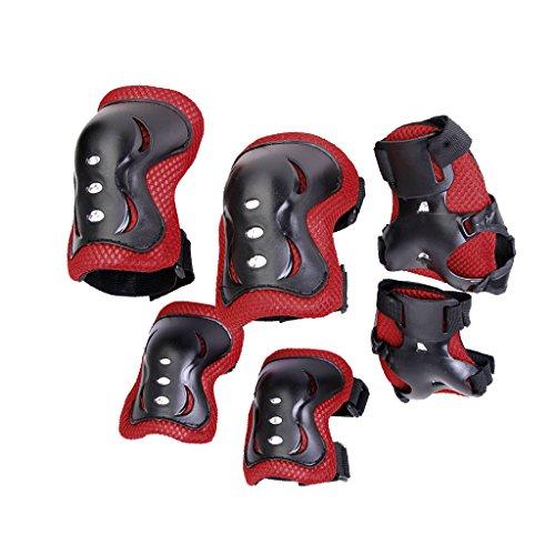 Baoblaze Kinder Knieschoner Ellbogenschoner und Handgelenkstütze Protektorenset Schutz Schoner Set für Rollschuhe Inline-Skates, Rollerskate Skateboard Sport Schutzset