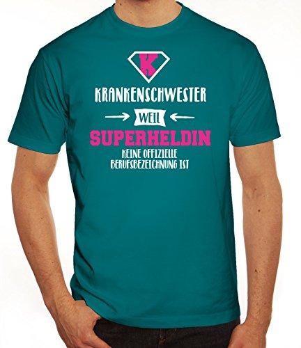 Jubiläums,-Ausbildungsgeschenk Herren T-Shirt mit Krankenschwester - Superheldin Motiv Diva