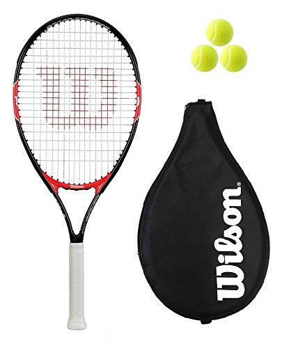 Wilson Federer 26 Tennisschläger + Hülle + 3 Tennisbälle