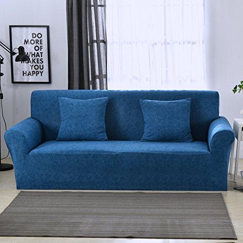 SSDLRSF Nachahmung Hanf Universal-Stretch-Sofa-Abdeckung Drucken Blume Sofa deckt Hussen Couch Cover Möbel Dekoration Handtuch (90-300cm), K030,3 Sitzer 190-230cm