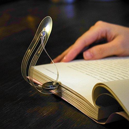 LÁMPARA DE LECTURA PARA LIBRO | Linterna con luz LED para leer en la cama | 2 EN 1 - Mini Flexo portatil con pinza Clip y Marcapáginas