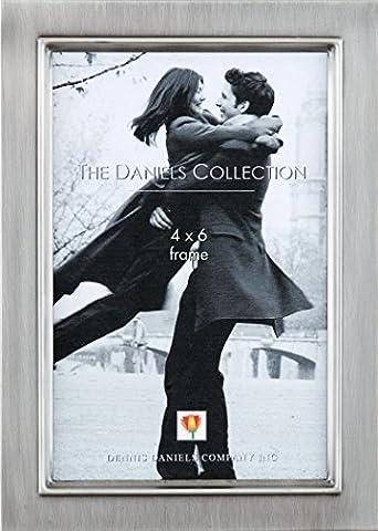 Dennis Daniels, gebürstetes Zinn, klassisch Schritt Bilderrahmen, 10,2 x 15.24 cm