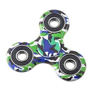 Nibesser Spinner Jouet Décomprimé pour Enfant ou Adulte Roulement Haute Vitesse Tourne Multicolore Camouflage (3)