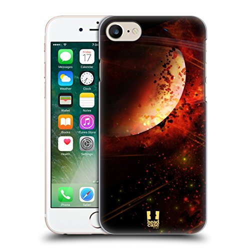 Head Case Designs Porcelaine Texturée Papiers - Croix Étui Coque en Gel molle pour Apple iPhone 7 / iPhone 8 Saturne