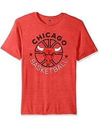 adidas NBA Chicago Bulls Men s Double Dribble Tri-Blend Short Sleeve Tee a991c4e7ef51