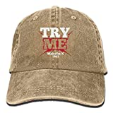 JIEKEIO Funny Baseball Caps Hats Malcolm X 1963 Civil Rights Quote Unisex Adult Adjustable Cowboy Dad Caps