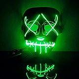 Sansee LED Maske Lichtmaske für Karneval in Venedig/Allerheiligen/Maskerade/Abendveranstaltung/Party/Halloween/Kostüm HQ/EL DJ Party Festival (Grün)