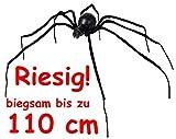 Riesige * Schwarze Witwe * als Deko für Halloween oder eine gruselige Motto-Party // sieht richtig lebensecht aus! // XXL Spinne Spider Grusel Dekoration Decoration Party