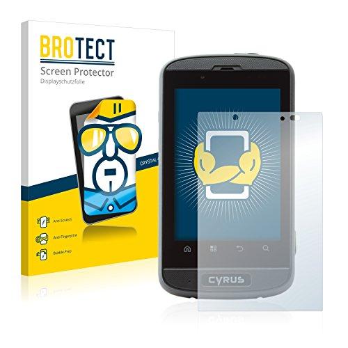 BROTECT Schutzfolie kompatibel mit Cyrus CS 18 [2er Pack] - klarer Bildschirmschutz