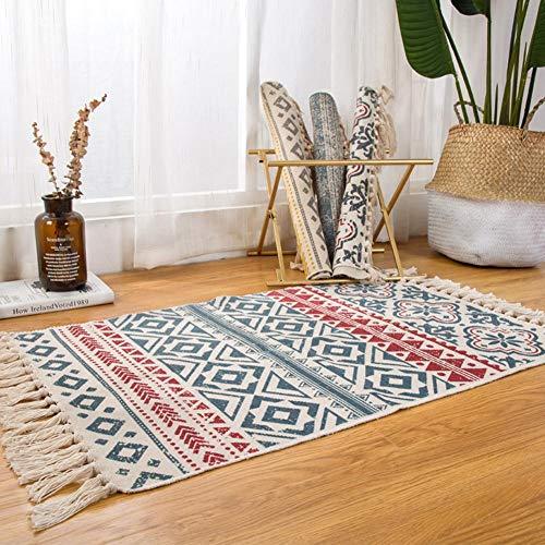 Teppich Wohnzimmer Interieur Teppich Böhmischen Stil Elegante Komfortable Anti-reflektierende Teppich Design Pompom, Bodenmatte Dekorativer Teppich Für Sofa Teppich