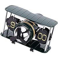 """Nuberia Auto Flip Clock con Soporte Cromado sin Caja, 7,87 x 7,24 x 2,95"""", Acero, Movimientos Inteligentes, Pantalla Am/FM, Silencioso, Preciso, para Cocina, Hogar, Decoración de Pared (Army Jet)"""