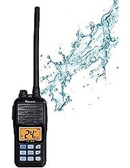 Marino dispositivos inalámbricos Easy Talk Recent RS de 36m IP67Waterproof VHF Ham Radio Transceptor–Walkie-Talkie con batería de litio Kit