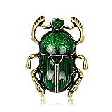 Dabixx Insekt Brosche Pins Schmuck Frauen Luxus Käfer Mode Dekoration Anzug Corsage - Green