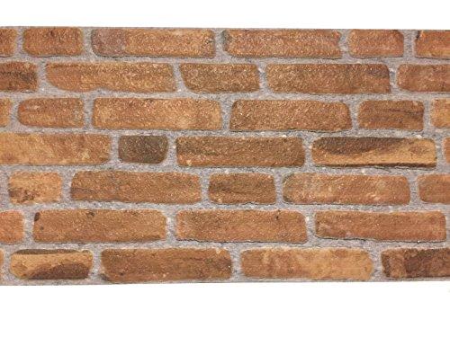 Rivestimento parete in polistrolo per cucina • camere da letto • balconi • salotto | pannelli decorativi effetto pietra | arredamento moderno | 120cm x 50cm x 2cm rosso