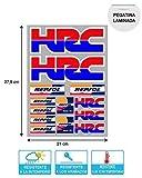 Autocollant Autocollant Adhésif Autocollant Autocollants Autocollants Compatible avec Hrc Honda Repsol Laminé Feuille (27 cm X 20 cm) 13 Unités de REF1