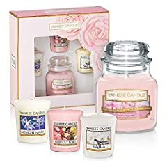 Idea Regalo - YANKEE CANDLE Mother' s Day Gift Set | Small Jar & 3 Candele Votive