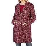Betty Barclay 4350 8010 Damen Mantel mit Reverskragen Knopfverschluss Meliert, Groesse 40, Bordeaux/beige/meliert