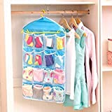 #5: Sita Ram Retails. 16 Pocket Plastic Hanging Bags & Hanger.For Home & Kitchen,Home Storage & Organization,Clothing & Wardrobe Storage,Space Saver Bags.(multi color)