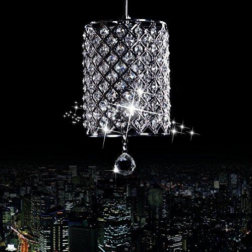 lampadario 1-testa di cristallo moderno, semplice sala da pranzo in