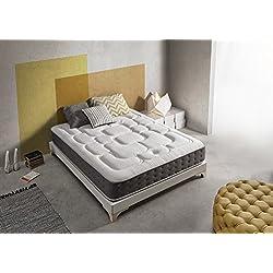 Living Sofa SIMPUR Relax | Matelas Epaisseur 30 cm Royal Top Visco-Graphene | 160x200 cm | Haut Niveau de conductivite Thermique | Reducteur electricite Statique | Perfect Soutien Haute Resilience