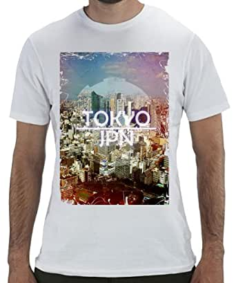 Geevan's Tokyo Japan Tee - Funky Graphic Printed T Shirt (Small)