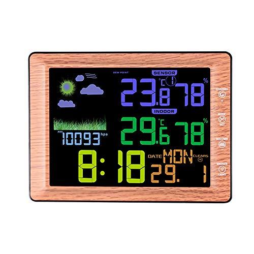 erstation, Wetterüberwachungsuhren, digitales Hygrometer für den Innen- und Außenbereich mit HD-Bildschirm, Temperatur-Luftfeuchtigkeitsmesser ()