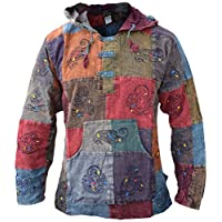 Gheri Men's Light Cotton Grandad Hippie Festival Hoodie 26
