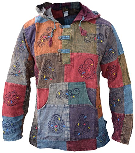 Gheri Men's Light Cotton Grandad Hippie Festival Hoodie 1