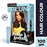 BBLUNT Salon Secret High Shine Creme Hair Colour, Chocolate Dark Brown 3, 100g with Shine Tonic, 8ml