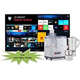 SMART LED TV 32 Inches LUCKYO LET 32S7 Full HD LED TV With Free Juicer Mixer Grinder
