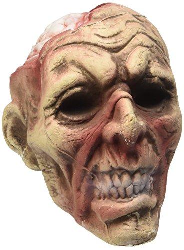 Widmann 04876 - decorazione per feste halloween 'testa zombie' con luce cambiacolore