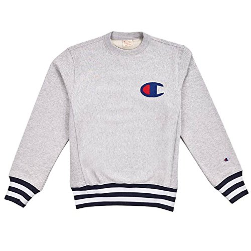 champion USA Reverse Weave Sweat Crewneck LIGHT OXFORD GREY
