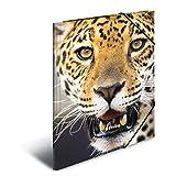 Herma 7142 Sammelmappe DIN A3 Kunststoff, Motiv Leopard, Serie Tiere, Eckspanner, 1 Zeichenmappe, auch für Kinder