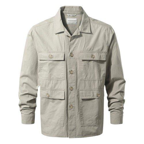 Craghoppers Herren Bridport Shirt Jacke Beige, Sandstone, 2XL