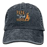 Papa The Fish Whisperer Denim Hat Adjustable Women Mini Baseball Hat