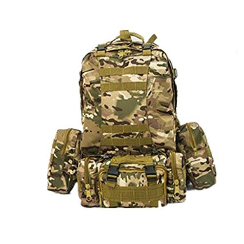 H Welt EU Outdoor Military Molle Army Tactical Rucksack Rucksack Sport Camping Wandern Tasche MC