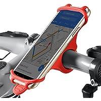 Vélo support support pour téléphone portable, Coque en silicone souple résistant aux chocs anti Shake Fall prévention Guidon de vélo pour téléphone pour iPhone 876S Plus, Samsung Galaxy S8Plus S7Edge S6S5Note 3458Huawei Nexus HTC LG/support de GPS universel pour smartphone, téléphone portable, compatible avec Route et VTT motos et scooters Poussette Landau Cradle Clamp Canne à pêche