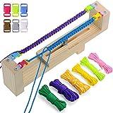 Zacro Jig Bracelet Maker avec 6 cordes de parachute et 6 boucles - Tisseur de bricolage pour Bracelets