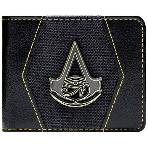 Assassin's Syndicate Creed Kostüm - Assassins Creed Origins Goldwappen Schwarz Portemonnaie Geldbörse