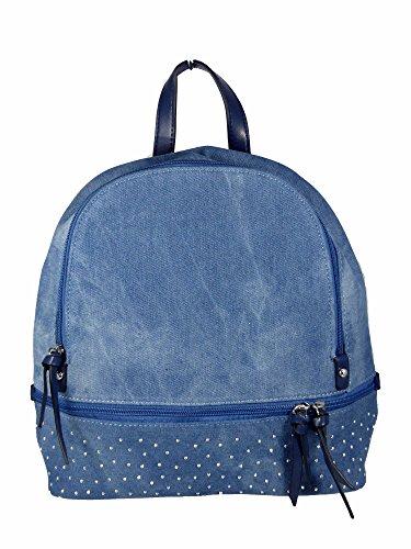 Jeans Da Città Con Borchie / Borchie - Effetto Glitter - Zaino Donna Ragazza Adolescente - Stile Look Blu Usato