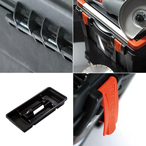 Werkzeugkoffer Werkzeugkasten Sortimentskasten Mustang 30x17x15cm Werkzeugbox Angelkoffer Werkzeugkiste Werkzeugtrage Sortimentskiste Kleinteilemagazin Angelkiste Kasten Kiste Box - 2